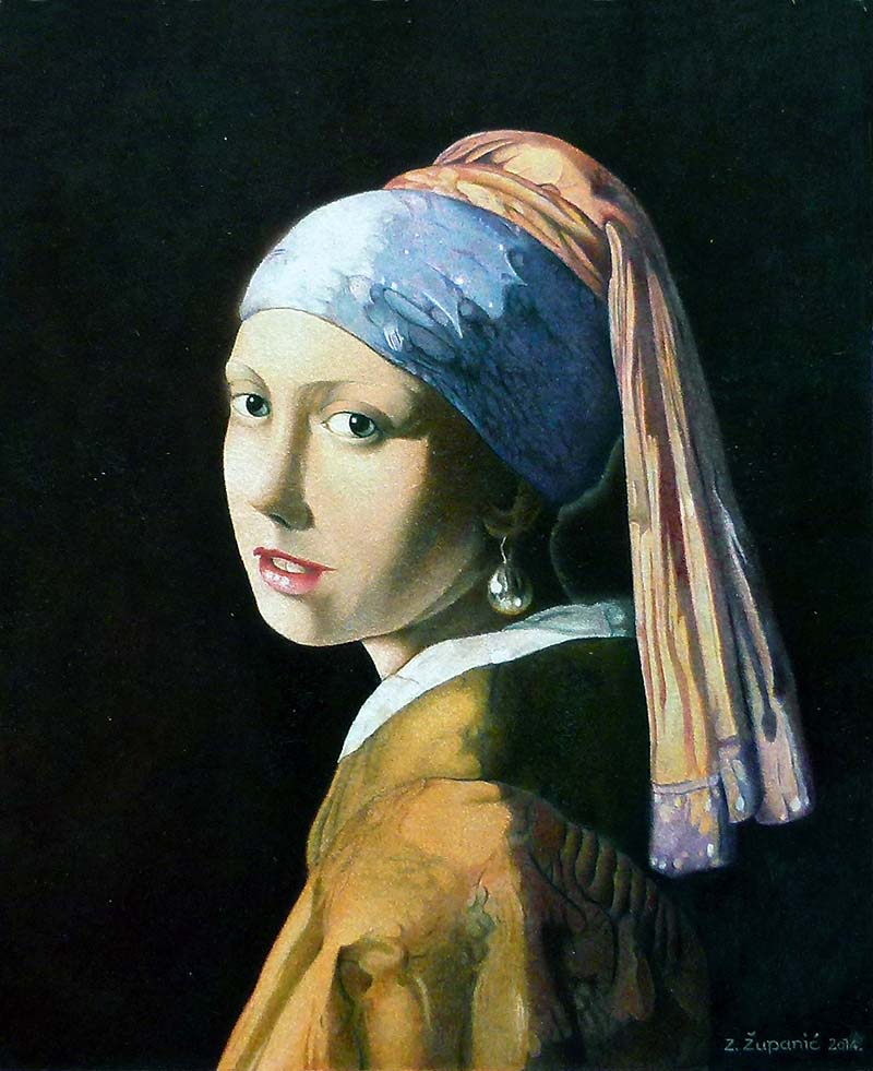 Girl eith a Pearl Earring ZZ 26x22 (2014) Available