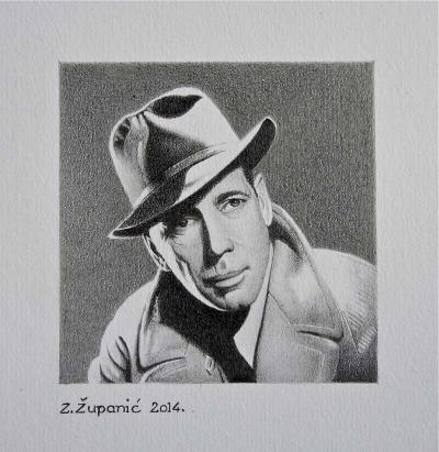 Humphrey Bogart I 8x8 (2014) Available